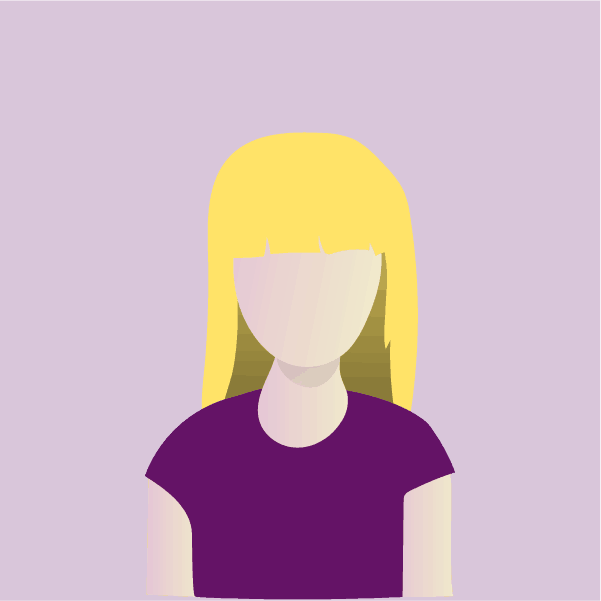 Silhouette illustration of a woman with blonde hair