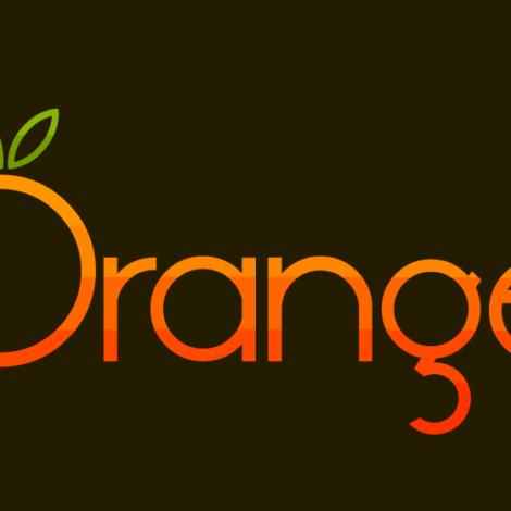 Logo of Orange brand with black background